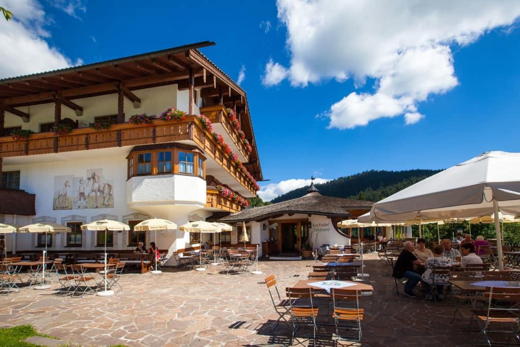 Hotel Gasthof Nutzkaser, Restaurant mit Panoramaterrasse