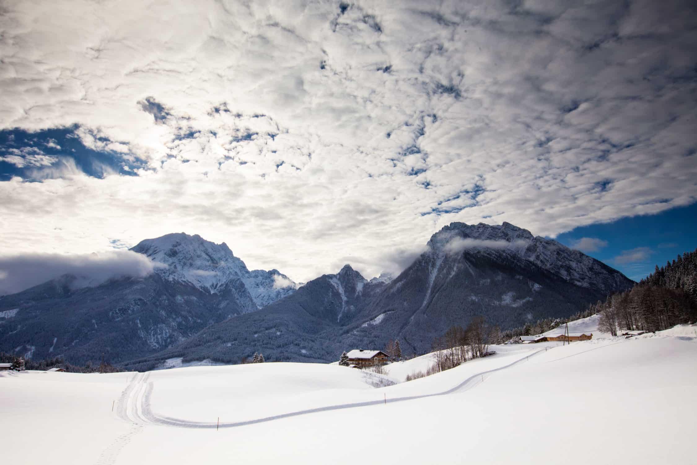 Winteraufnahme Hotel Gasthof Nutzkaser, Nationalpark Berchtesgaden